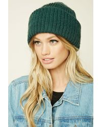 Forever 21 | Green Fold-over Slouchy Beanie | Lyst