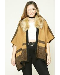 Forever 21 Multicolor Plus Size Faux Fur Shawl
