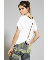 Forever 21 | White Active Tied-back Tee | Lyst