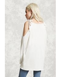 Forever 21 | White Open-shoulder Sweater | Lyst