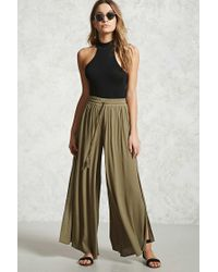 Forever 21 | Green Drawstring Palazzo Pants | Lyst