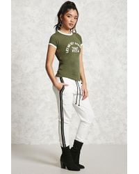 Forever 21 | Green Pizza Graphic Ringer Tee | Lyst