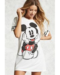 Forever 21 | Black Mickey Mouse Varsity Nightdress | Lyst