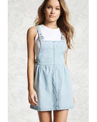 Forever 21 | Blue Denim Overall Dress | Lyst