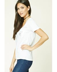Forever 21 White Coffee Please Graphic Tee