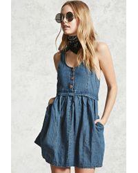 Forever 21 | Blue Clean Wash Denim Dress | Lyst