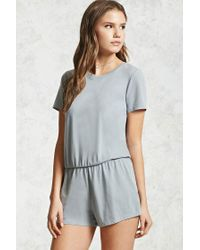 Forever 21   Gray Keyhole Cutout Romper   Lyst