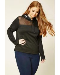 Forever 21 Black Plus Size Mixed Emotions Hoodie