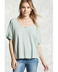 Forever 21 | Multicolor Contemporary V-neck Top | Lyst