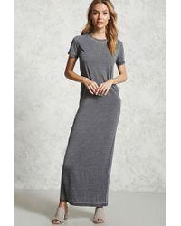 Forever 21 | Gray Burnout T-shirt Maxi Dress | Lyst