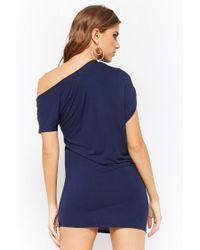 Forever 21 - Blue Asymmetrical Mini Dress - Lyst