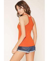 Forever 21 - Orange Racerfront Cami - Lyst