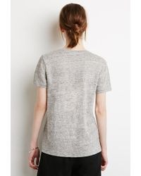 Forever 21 - Gray Me Prouver Slub Knit Tee - Lyst