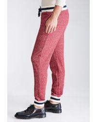 Forever 21 - Red Marled Varsity Stripe Sweatpants for Men - Lyst