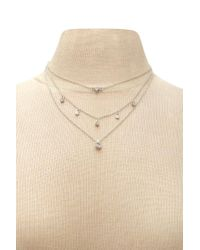 Forever 21 - Natural Layered Charm Necklace - Lyst
