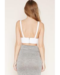 Forever 21 - Blue Textured Crop Top - Lyst