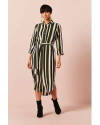 Forever 21 - Multicolor Stripe Button-front Shirt Dress - Lyst