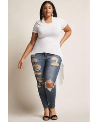 Forever 21 | White Plus Size High-low Top | Lyst
