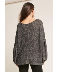 Forever 21 - Black Oversized Balloon-sleeve Top - Lyst