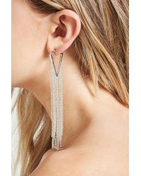 Forever 21 - Metallic Ball Chain Duster Earrings - Lyst