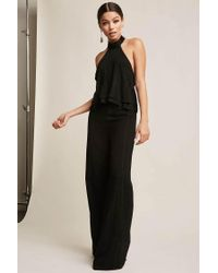 7eebe60f36a Forever 21 Metallic Stripe Halter And Pants Set in Black - Lyst