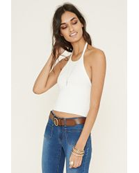 Forever 21 - White Self-tie Halter Top - Lyst