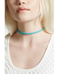 Forever 21 | Multicolor Contrast Woven Choker | Lyst