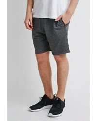 Forever 21 | Black Heathered Zip Pocket Sweatshorts for Men | Lyst
