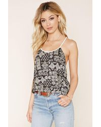 Forever 21 | White Abstract Rope Cami | Lyst