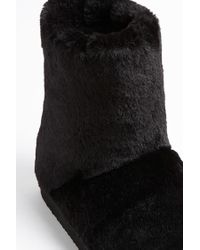 Forever 21 - Black Faux Fur Boots - Lyst
