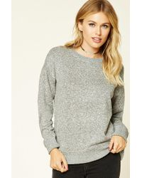 Forever 21 | Gray Contemporary Marled Pullover | Lyst