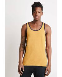 Forever 21 | Yellow Print Muscle Tee for Men | Lyst