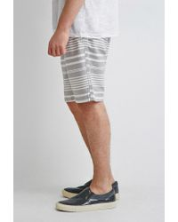 Forever 21 - Gray Mixed Stripe Shorts for Men - Lyst