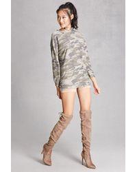 Forever 21 - Multicolor Camo Longline Sweater - Lyst