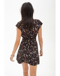 Forever 21 - Black Lily Print Dress - Lyst