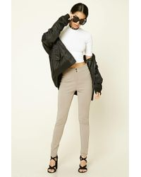 Forever 21 - Natural Flat-front Skinny Pants - Lyst