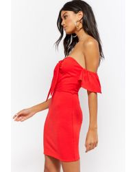 Forever 21 - Red Sweetheart Bodycon Dress - Lyst
