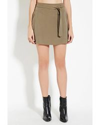 Forever 21 - Green Contemporary Belted Mini Skirt - Lyst