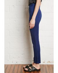 Forever 21 - Blue Skinny Ankle Jeans - Lyst