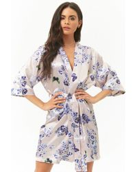 Forever 21 - Multicolor Pretty Robes Butterfly & Floral Print Robe - Lyst