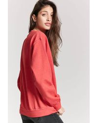 Forever 21 Red Minnie Mouse Graphic Sweatshirt