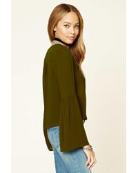 Forever 21 | Green Long Bell-sleeved Top | Lyst