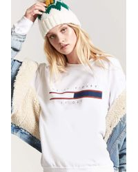 Forever 21 - White Fleece He'll Figure It Out Graphic Sweater - Lyst