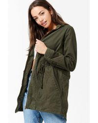 Forever 21 - Green Funnel Neck Utility Jacket - Lyst