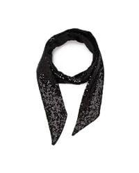 Forever 21 - Black Sequin Oblong Scarf - Lyst