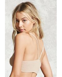 Forever 21 - Natural Strappy Textured Bralette - Lyst