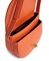 Forever 21 - Orange Faux Leather Crossbody Saddle Bag - Lyst