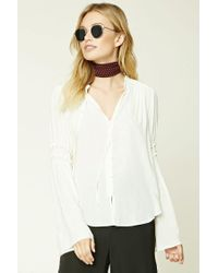Forever 21 - Multicolor Contemporary Trumpet Sleeve Top - Lyst