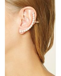 Forever 21 | Metallic Faux Pearl Ear Cuffs | Lyst