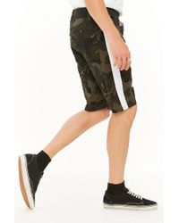 Forever 21 - Green Victorious Camo Contrast Stripe Shorts for Men - Lyst